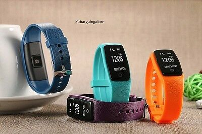 Bluetooth Activity Tracker Watch Band Bracelet Heart Rate Monitor