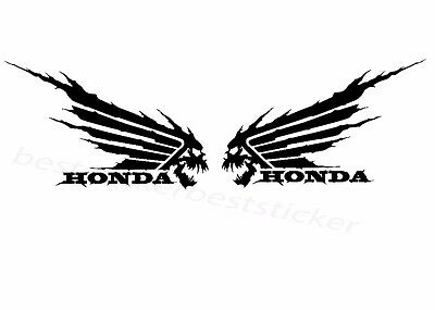 2x Honda Wings Aufkleber Car Moto Window Bumper Sticker Vinil 156