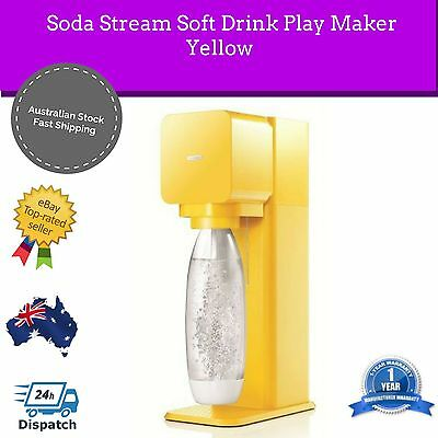 NEW Soda Stream Source Metal Home Soft Fizzy Bubble Drink Maker Sodastream