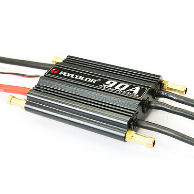 90A Electronic Speed Controller BEC ESC Cooling Brushless Ship RC Boats