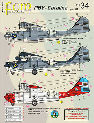 Pby - Catalina Part 1 Fcm Decals 14434 1/144