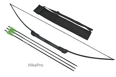 Compact Break - Take Down Survival Bow with Arrows & carry pouch Kit 55lb Hiking