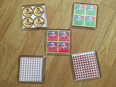 5 Drink Mat Coasters With Images Of Lsd Blotter Art Inside Rave Hippy Acid House