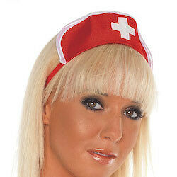 Adult Red And White Dress Nurse Outfit