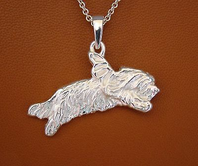 Bearded Collie Angel Pendant
