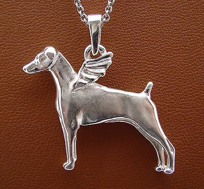 Doberman Pinscher Angel Pendant