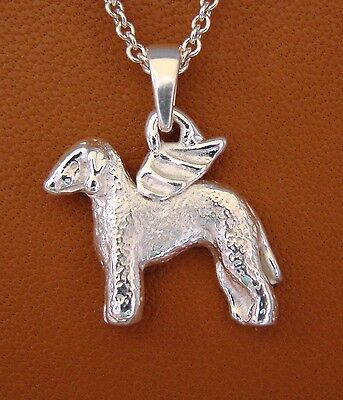 Bedlington Terrier Angel Pendant