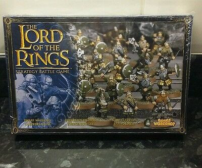 Games Workshop Lord Of The Rings 24 Dwarf Warriors Citadel Miniatures New Sealed