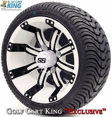 "Golf Cart 12"" Tempest SS Wheel/Rim and (215/35-12 or 215/50-12) DOT Tire Combo"
