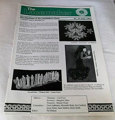 THE LACEMAKER  No.29 JUNE 1995 'NEWSLETTER of the LACEMAKERS CIRCLE'