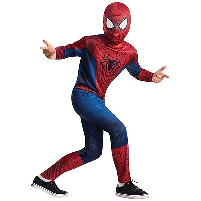 Spider-Man Costume Kids Spiderman Halloween Fancy Dress
