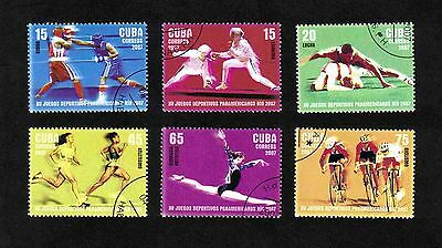 Caribbean Region 2007 XV Pan American Games complete set of 6 values used