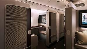 First class return airline flight ticket Sydney to South East Asia via Bangkok