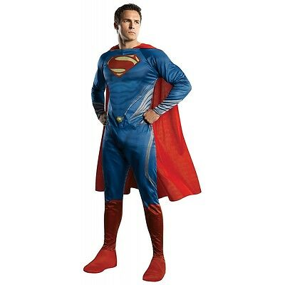 Superman Adult Costume Man of Steel Movie Superhero Halloween Fancy Dress