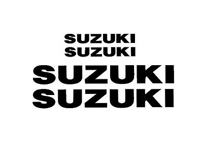 Suzuki Decal stickers 2x (200mm x 50mm) 2x (100mm x 25mm)