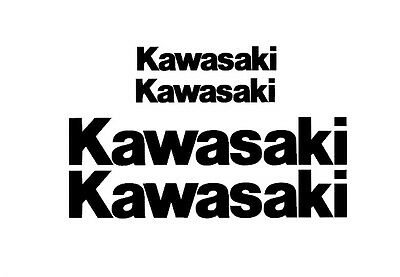 Kawasaki Rim Decal stickers 2x (200mm x 50mm) 2x (100mm x 25mm)