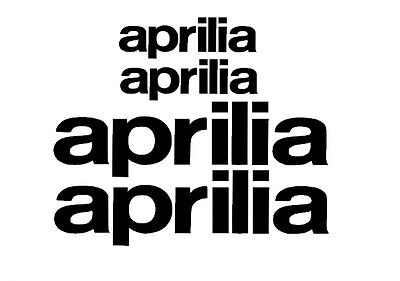 Aprilia Rim Decal stickers 2x (200mm x 50mm) 2x (100mm x 25mm)