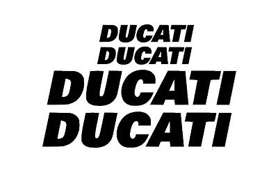 Ducati Rim Decal stickers 2x (200mm x 50mm) 2x (100mm x 25mm)