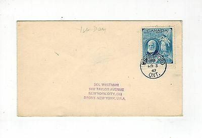 Canada Gvi 1947 First Day Cover Alexander Graham Bell Telephone Fdi Mr 3 47