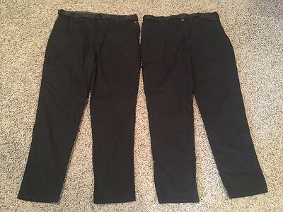12A3 Lot of 2 Happy Chef Cook Cool Pants Black Unisex XL Modern Fit Smart Cargo