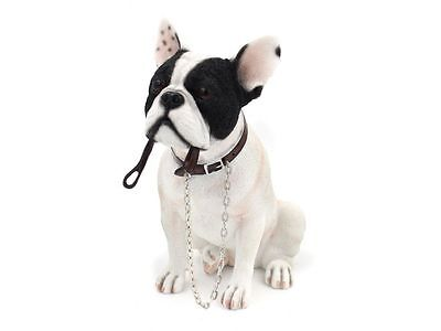 French Bulldog White  & Black Dog Ornament Figurine With Gift Box Home Decor New