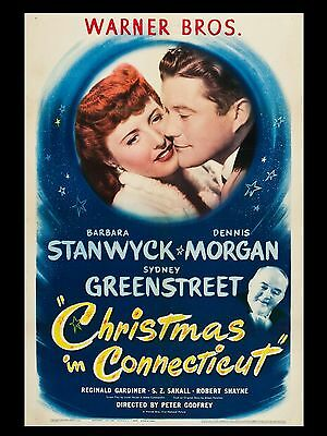 """Christmas in connecticut 16"""" x 12"""" Reproduction Movie Poster Photo"""