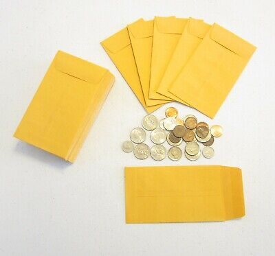 """18 Universal Kraft Coin Change Envelopes #5 Size 3.125"""" By 5.5"""" With Gummed Flap"""