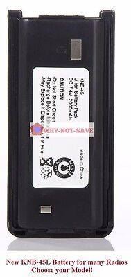 Replacement 2000mAh KNB-45L battery for Kenwood TK-2200L TK-2212 TK-3212 TK-3302