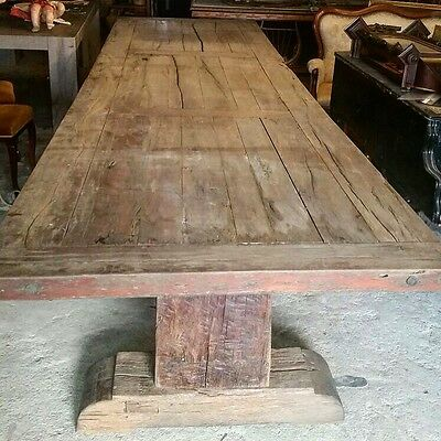 Huge, 15ft/4.45m Long, Antique, Oak, French Farm Table, Vintage, Country