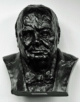Winston Churchill Bust - Made from Coal - Hand Crafted