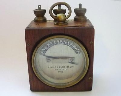 Record Electrical Co electrical measuring instrument 1915 WWI army equipment