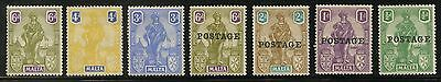 MALTA 1922-26 OUR LADY FINE MINT 7 stamps