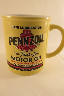PENNZOIL OIL MUG/COFFEE CUP The tough film motor oil
