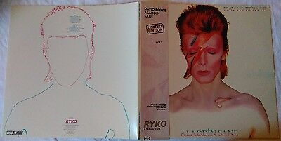 *** DAVID BOWIE - ALADDIN SANE *** RYKO Limited Edition 5245 clear LP