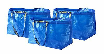 """3 Pack of IKEA FRAKTA Large Shopping Tote Bag Grocery Laundry 21""""x14""""13 Reusable"""