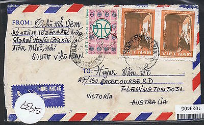 c1980 airmail cover to Flemington with 1d Nguyen Trai x 2 etc MS411