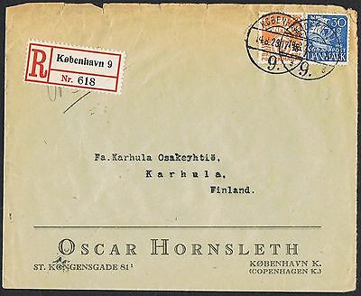 1934 registered advertising cover to Finland with 1933 10c orange & 30c TS386