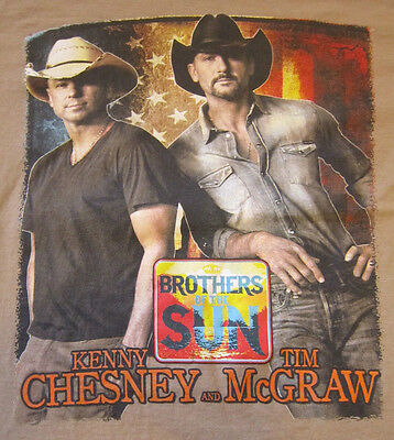 KENNY CHESNEY TIM MCGRAW Brothers of the Sun concert tour shirt adult small 2012