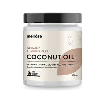 NEW Melrose Organic Flavour Free Coconut Oil 380ml | Refined Coconut Oil