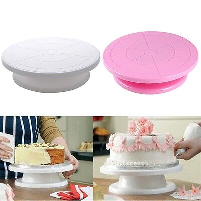 23cm Cake Decorating Turntable Rotating Revolving Kitchen Display Stand LE