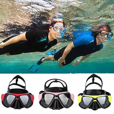 Good Underwater Goggles Anti Fog Diving Mask Snorkel Swimming Goggles LE
