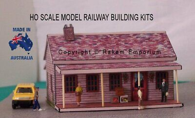 HO Scale Timber House with Optional Rebate Doors Windows Railway Building Kit