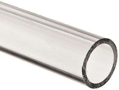"""Polycarbonate Tubing, 1"""" ID x 1 1/4"""" OD x 1/8"""" Wall, Clear Color 36"""" L"""