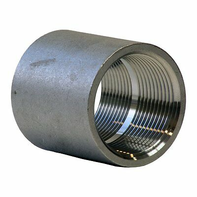 "Stainless Steel 304 Cast Pipe Fitting, Coupling, Class 150, 1-1/4"" NPT Female"