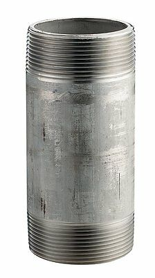 """Stainless Steel 304/304L Pipe Fitting, Nipple, Schedule 40 Welded, 3"""" X 6"""" NPT"""