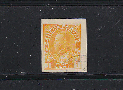 Canada #136 1 Cent Imperf Admiral Issue  Used