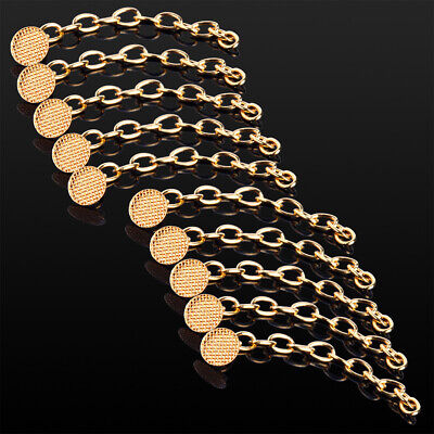 10 PCS Dental Orthodontic Traction Chain Golden Gold Plated Round Buttons SALE