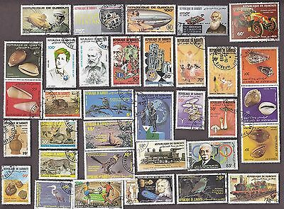 50 DJBOUTI All Different Stamps