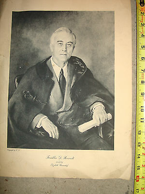 Lithograph of Franklin D. Roosevelt