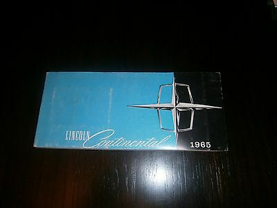 1965 Lincoln Continental Original Owners Manual